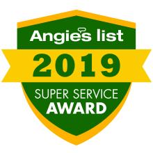 2019 Angie's List Super Service Award for CARJON Heating & Cooling