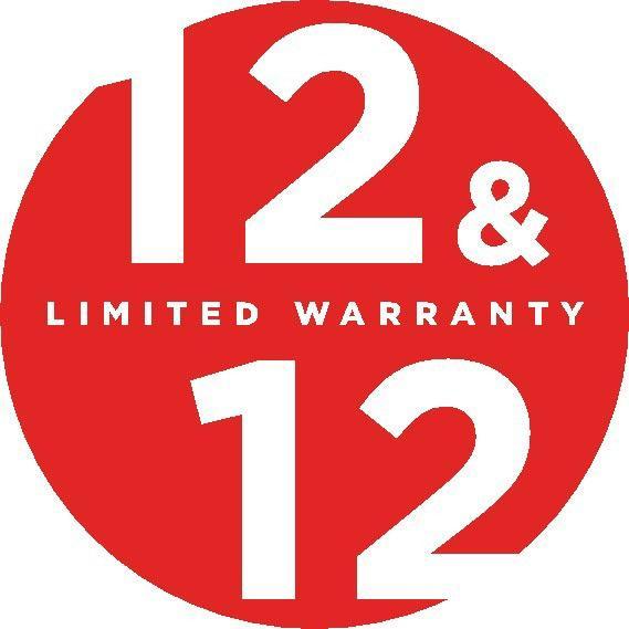12 12 warranty logo
