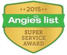 2015 Angie's List Super Service Award logo