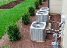 exterior ac units connected to residential house