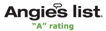 Angie's List A Rating logo