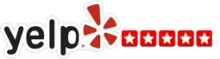 Yelp logo with five stars