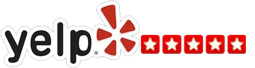 Yelp logo with five stars